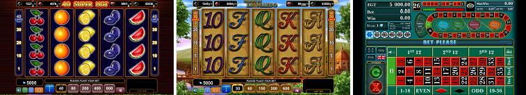 EGT Casino voorbeeld spellen